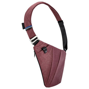 Crossbody Designer Sling Bag - right-handed / Wine Red - Bags