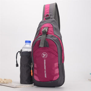 Crossbody Waterproof Sling Bag with Detachable Water Bottle Holder - Bags