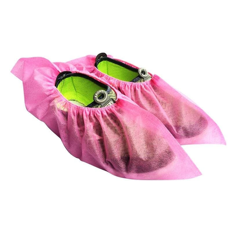 Disposable Slip-on Shoe Covers - Pink - Safety