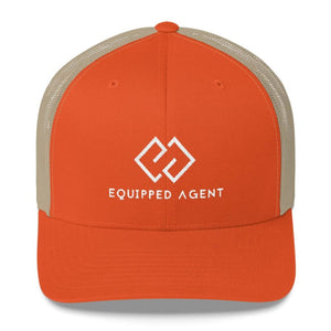 EA Trucker Cap - Rustic Orange/ Khaki