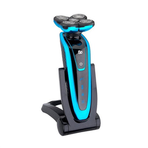Electric Beard Shaver with Rotating Head - Blue - Tools