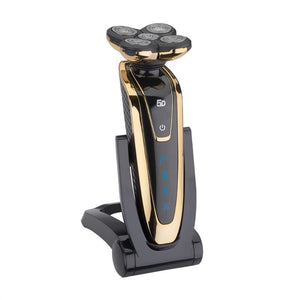 Electric Beard Shaver with Rotating Head - Golden - Tools