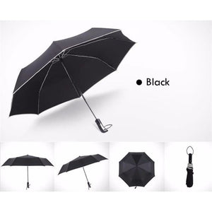 Fully-Automatic Business Folding Umbrella - Black