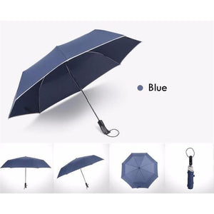 Fully-Automatic Business Folding Umbrella - Blue