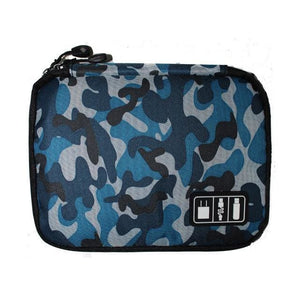 High Grade Nylon Waterproof Electronics Organizer - Camouflage blue - Bags