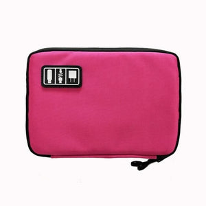 High Grade Nylon Waterproof Electronics Organizer - Rose red - Bags