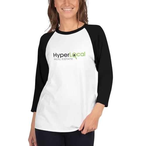 HyperLocal Real Estate 3/4 Sleeve Raglan Shirt - XS