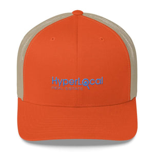 HyperLocal Real Estate Trucker Cap - Rustic Orange/ Khaki