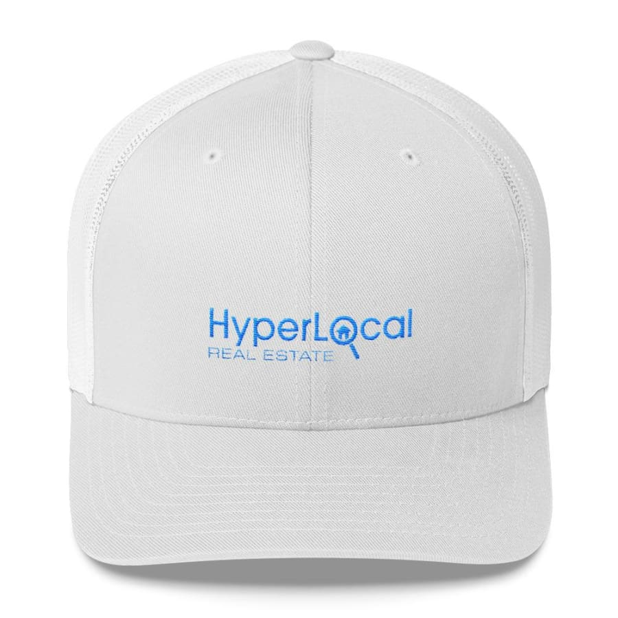 HyperLocal Real Estate Trucker Cap - White