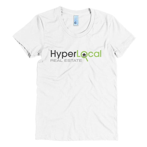 HyperLocal Real Estate Womens Crew Neck Crew Neck Tee - White / S