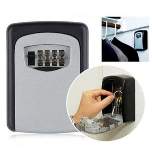 Indoor/Outdoor Wall Mounted Key Lock Box - Tools