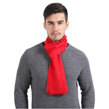Mens Cashmere Solid Color Scarves - Red - Scarf