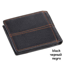 Mens Genuine Leather Wallet - Classic - black - Wallets