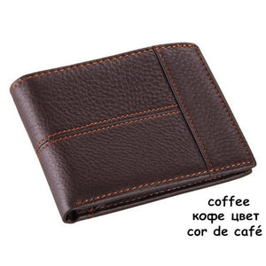 Mens Genuine Leather Wallet - Classic - coffee - Wallets