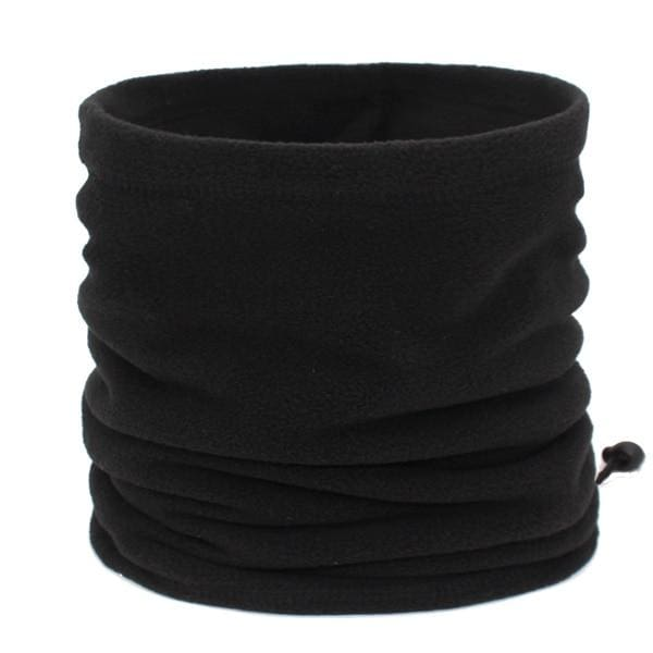 Mens Winter Scarf Ring - black - Scarf