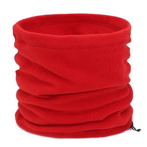 Mens Winter Scarf Ring - red - Scarf