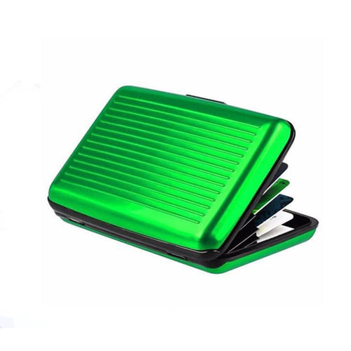 Metal Card Wallet Case - Green - Wallets