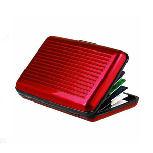 Metal Card Wallet Case - Red - Wallets