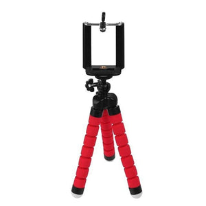 Mini Smartphone Tripod Stand - Red - Phones