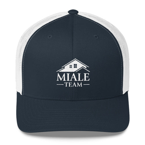 Miale Team Trucker Cap (White logo)