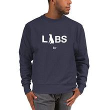 White LABS Logo Champion Sweatshirt