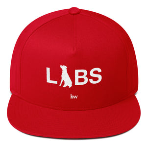 White LABS Logo Flat Bill Cap