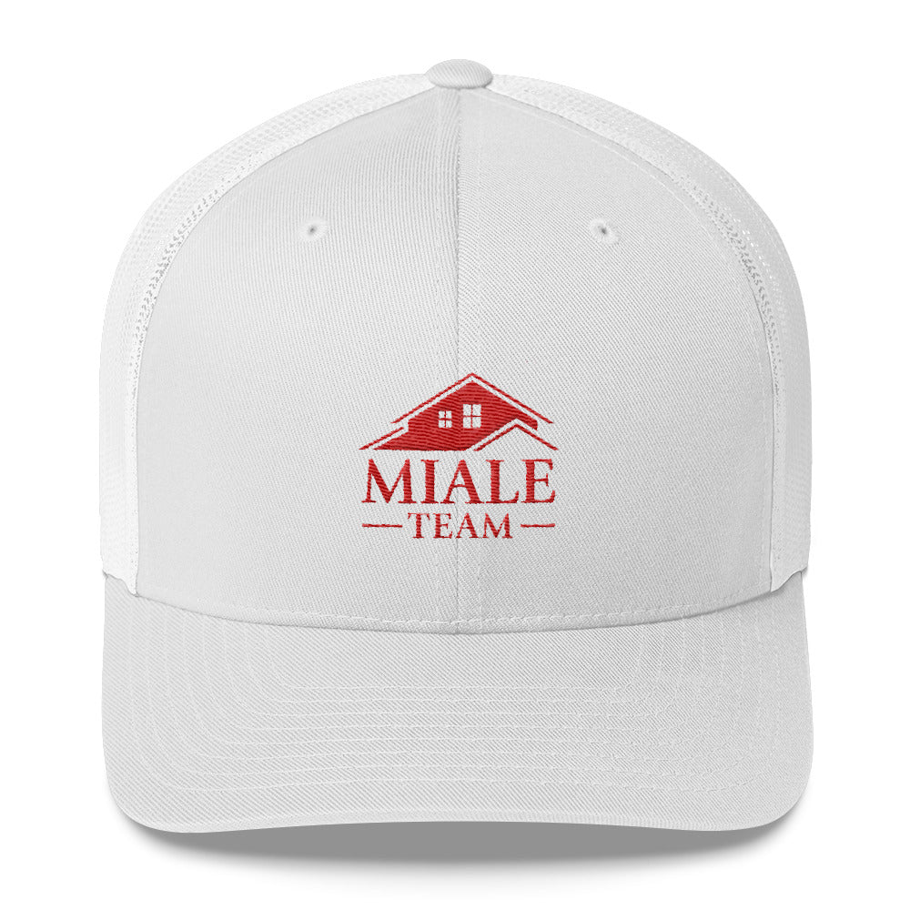 Miale Team Trucker Cap (Red logo)