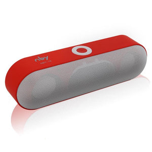 Portable Bluetooth Stereo Speaker - Red - Technology