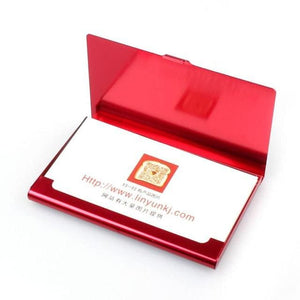 Protective Business Card Case - Red - Wallets