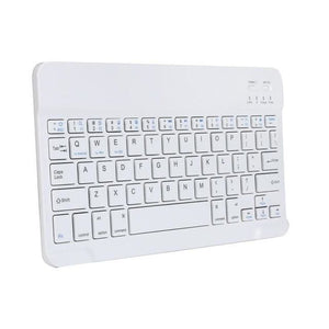 Travel Size Bluetooth Wireless Keyboard - White - Computer