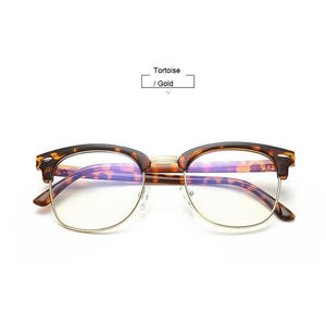 Unisex Blue Light Blocking Glasses - Tortoise n Gold - Glasses