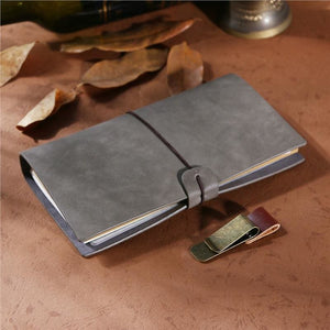 Vintage Notebook with Pen Clips - Books