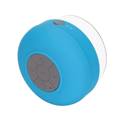 Waterproof Shower Bluetooth Audio Speaker - blue - Technology