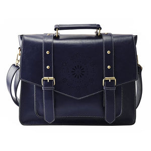 Womens Messenger Handbag Briefcase - Blue - Bags
