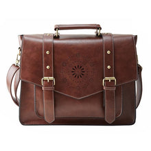 Womens Messenger Handbag Briefcase - Brown - Bags