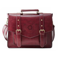 Womens Messenger Handbag Briefcase - Red - Bags