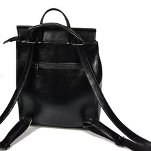Womens Petite Leather Backpack - Bags