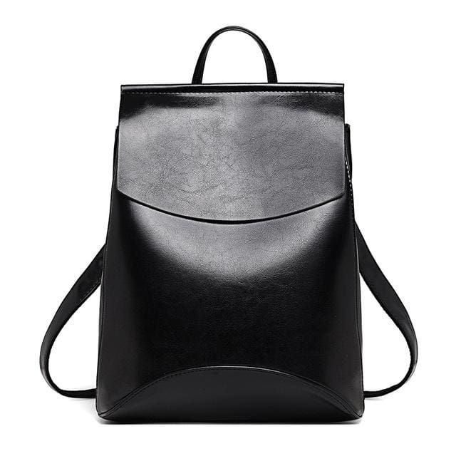 Womens Petite Leather Backpack - Black / China - Bags