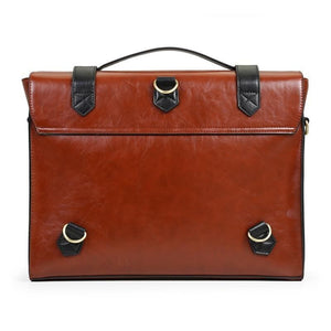 Womens Vintage Messenger Briefcase - Bags