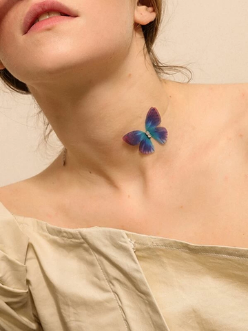 Butterfly Decor Choker - uniquelebal