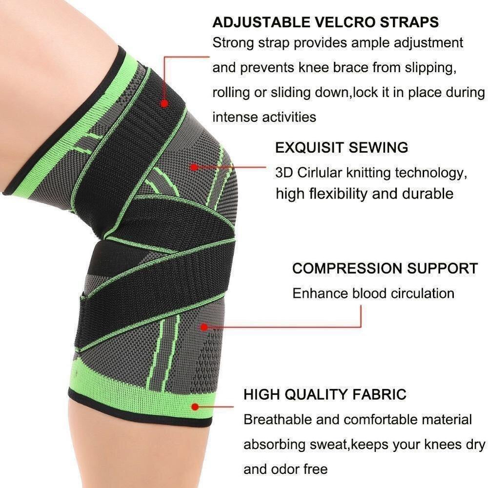 3D Adjustable Knee Brace - uniquelebal