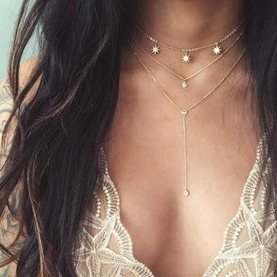 Multilayer Gold Choker