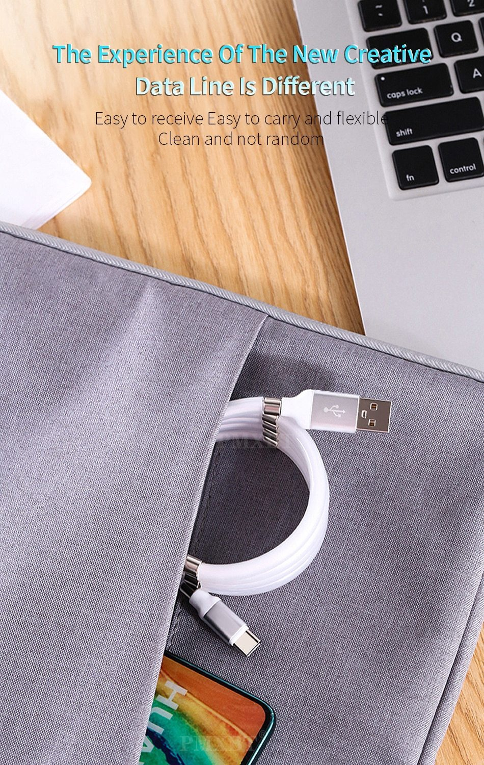 Magnetic Self Winding Cable