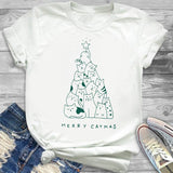 Merry Catmas T-Shirt - uniquelebal