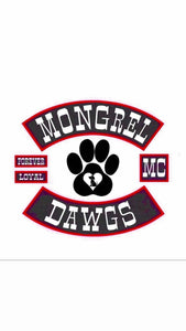 MONGREL DAWGS tm IRON ON small