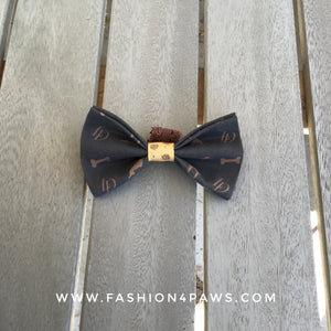Louis Doxie Bow Tie for Longhaired Dachshunds in the style of Louis Vuitton