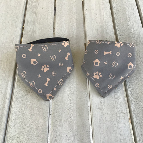 Louis Dog Bandana in the style of Louis Vuitton