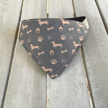 Load image into Gallery viewer, Louis Doxie Shorthair Bandana for dogs reversible