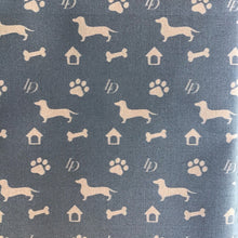 Load image into Gallery viewer, Fabric Louis Doxie Shorthair Silhouette Bandana