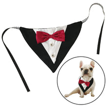 Load image into Gallery viewer, Tuxedo Style elegant Dog Bandana for small and medium sized dogs